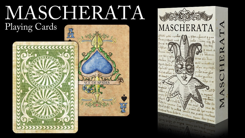 Project image for MASCHERATA playing cards (Re-launch)