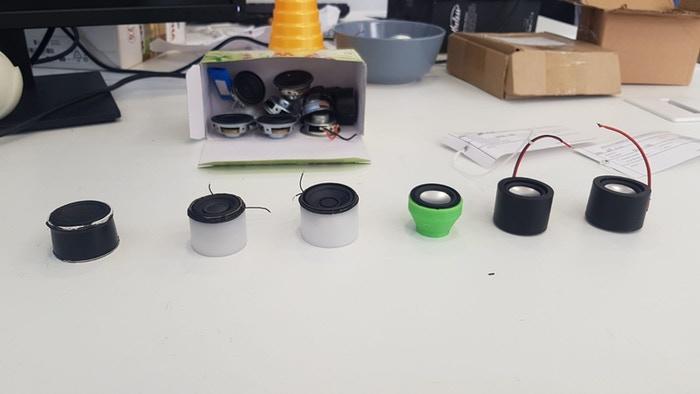 Designing different speaker sound boxes.