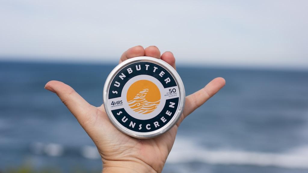 SunButter SPF50 reef safe sunscreen :: BREAK KICKSTARTER project video thumbnail