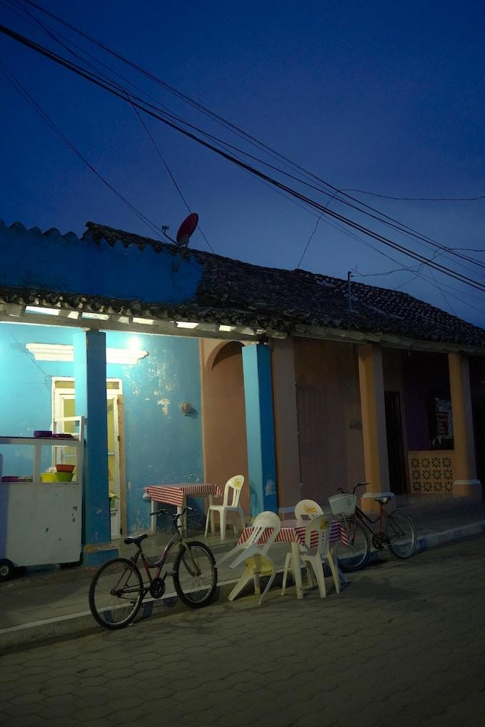 Fotografía tomada por Fernando una noche en Tlacotalpan / A photo taken by Fernando one night in Tlacotalpan.