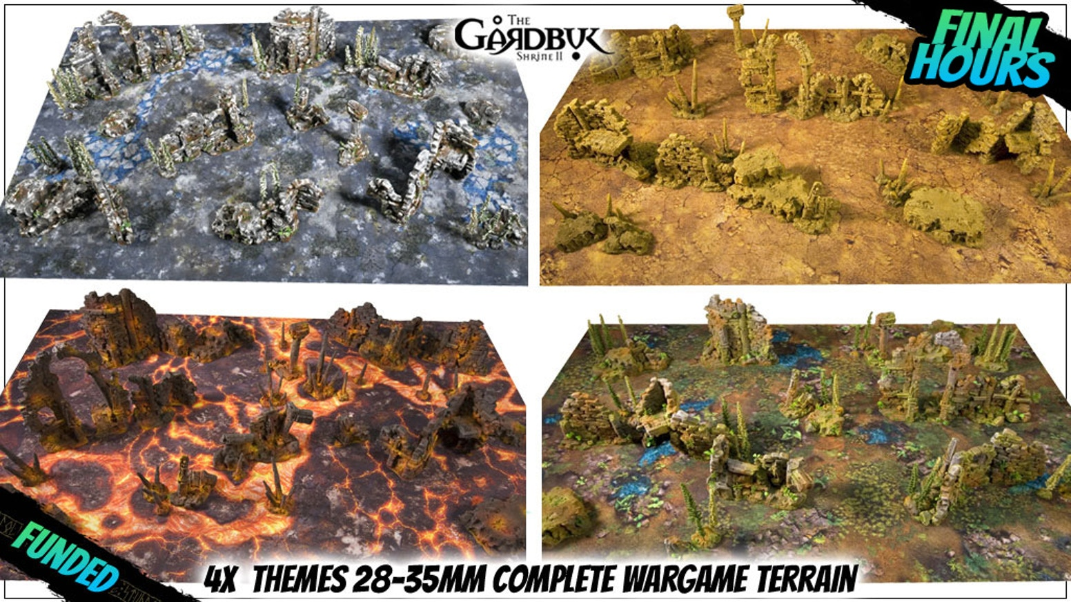 28-35mm miniature wargame models for casual and competitive battle. Various fully painted handmade terrain + double-sided game mats.
