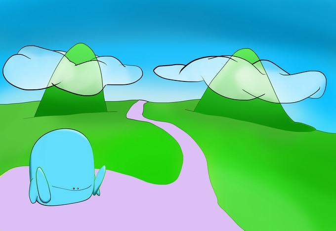 """Illustration #1 """"A Foreign land"""""""