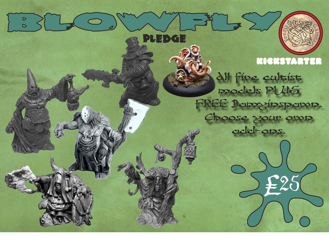 All five chaos cultist models plus FREE damyinspawn model for £25. Choose your own add-ons.