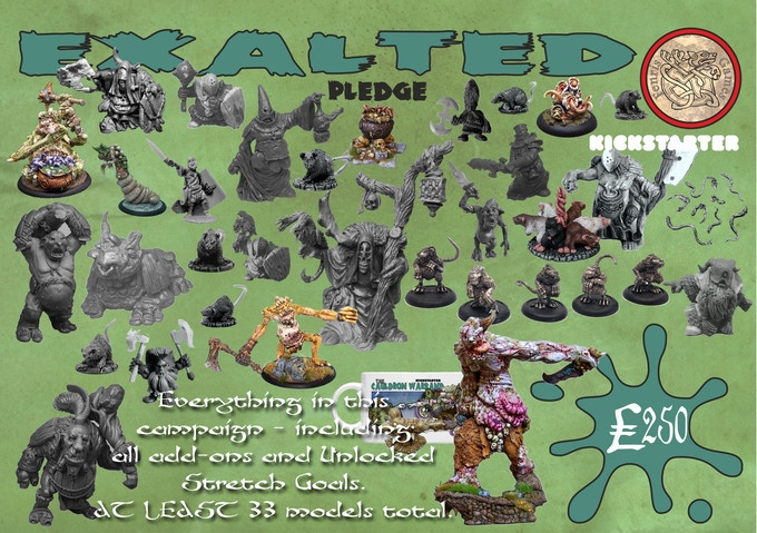 EVERYTHING included in this campaign, including all add-ons and Unlocks. AT LEAST 42 models plus a mug for £250 !