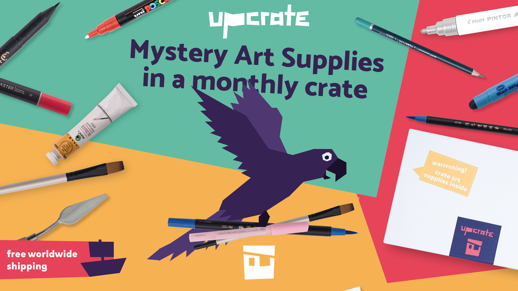 UPCRATE Mystery Art Supplies in a monthly crate project video thumbnail