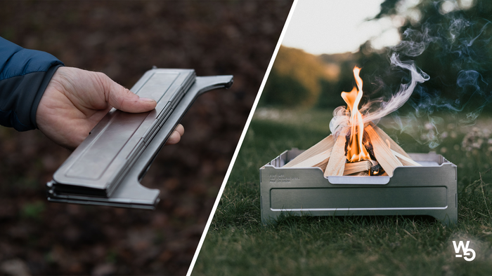 Fire Safe is an envelope-sized, portable fire pit and cooking companion that allows you to start a fire anywhere permissible.