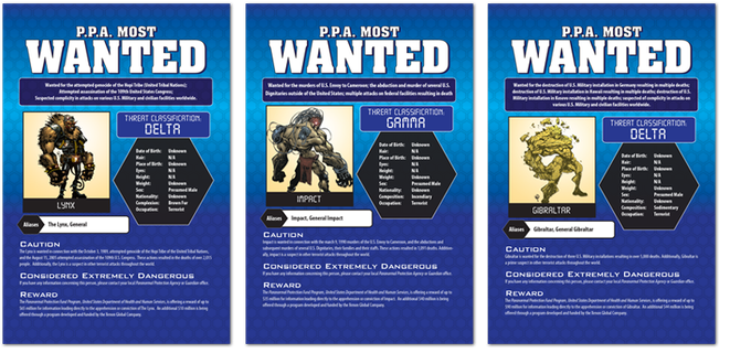 PARANORMAL PROTECTION AGENCY WANTED NOTICES (A.K.A. THE BLACK SHEETS) SET OF 7!