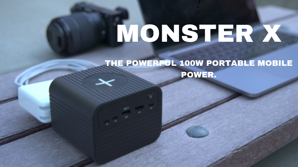 Monster X:The Powerful 100W Portable Mobile Power. project video thumbnail