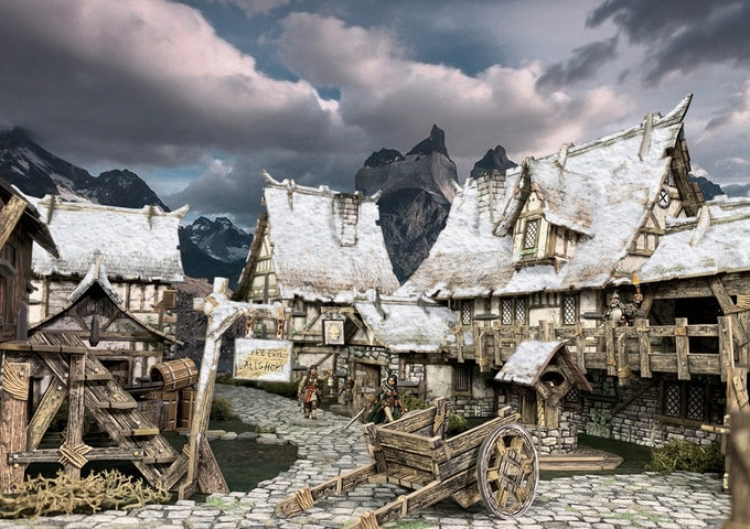 Snow-covered Roofs - unlocked when 1514 Backers join the project!