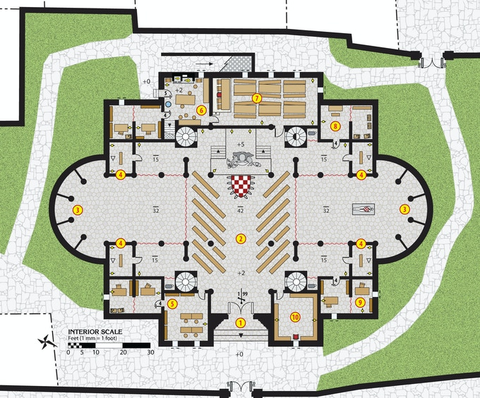 The Temple of Larani in Tashal - New colorized floorplan!