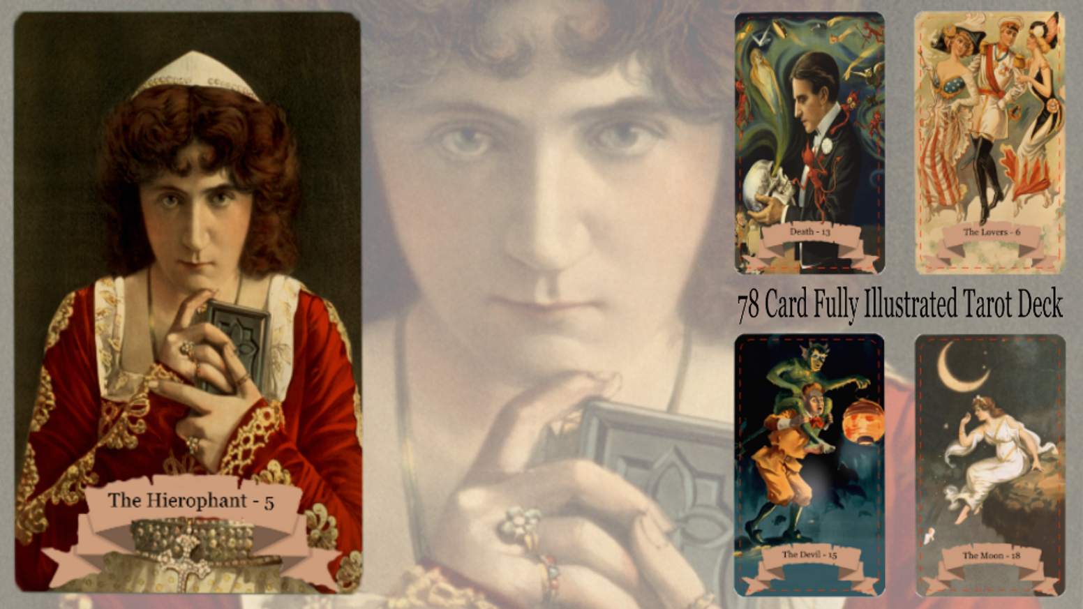 Tarot Card Deck based on Vintage American Theater Posters by