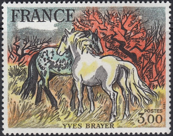 """Horses"" by Yves Brayer"