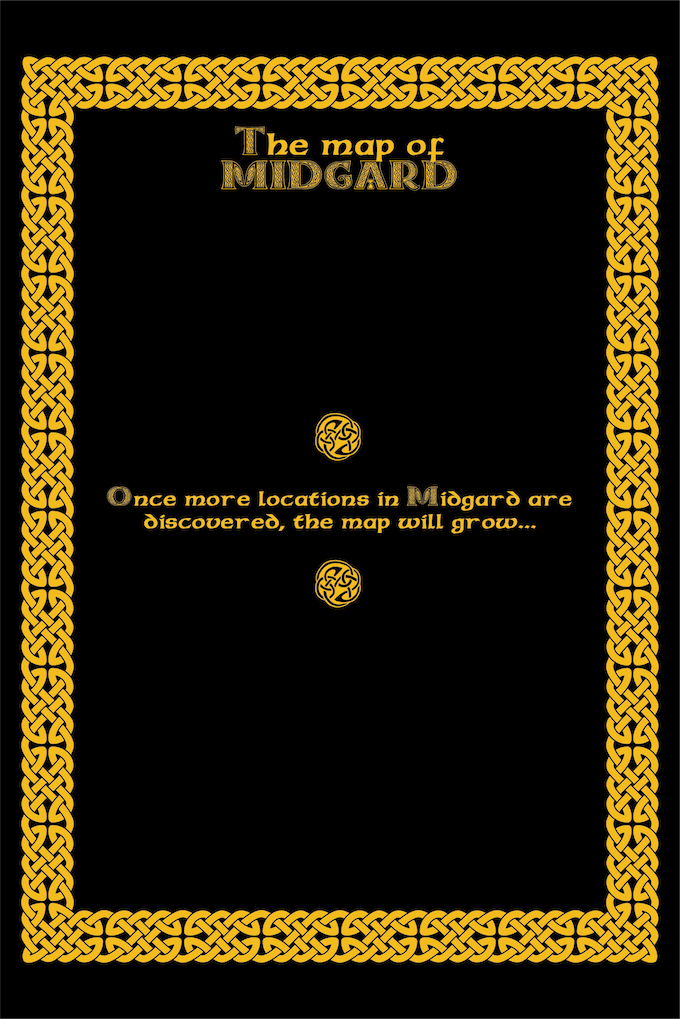 As your travel throughout Midgard and visit new places, this is where you will draw the map of the Realm