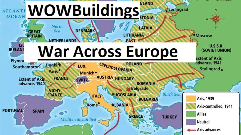 WOWBuildings War Across Europe 3D Print STL files