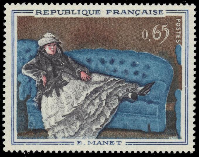 """Edouard Manet's painting """"Madame Manet on Blue Sofa"""""""