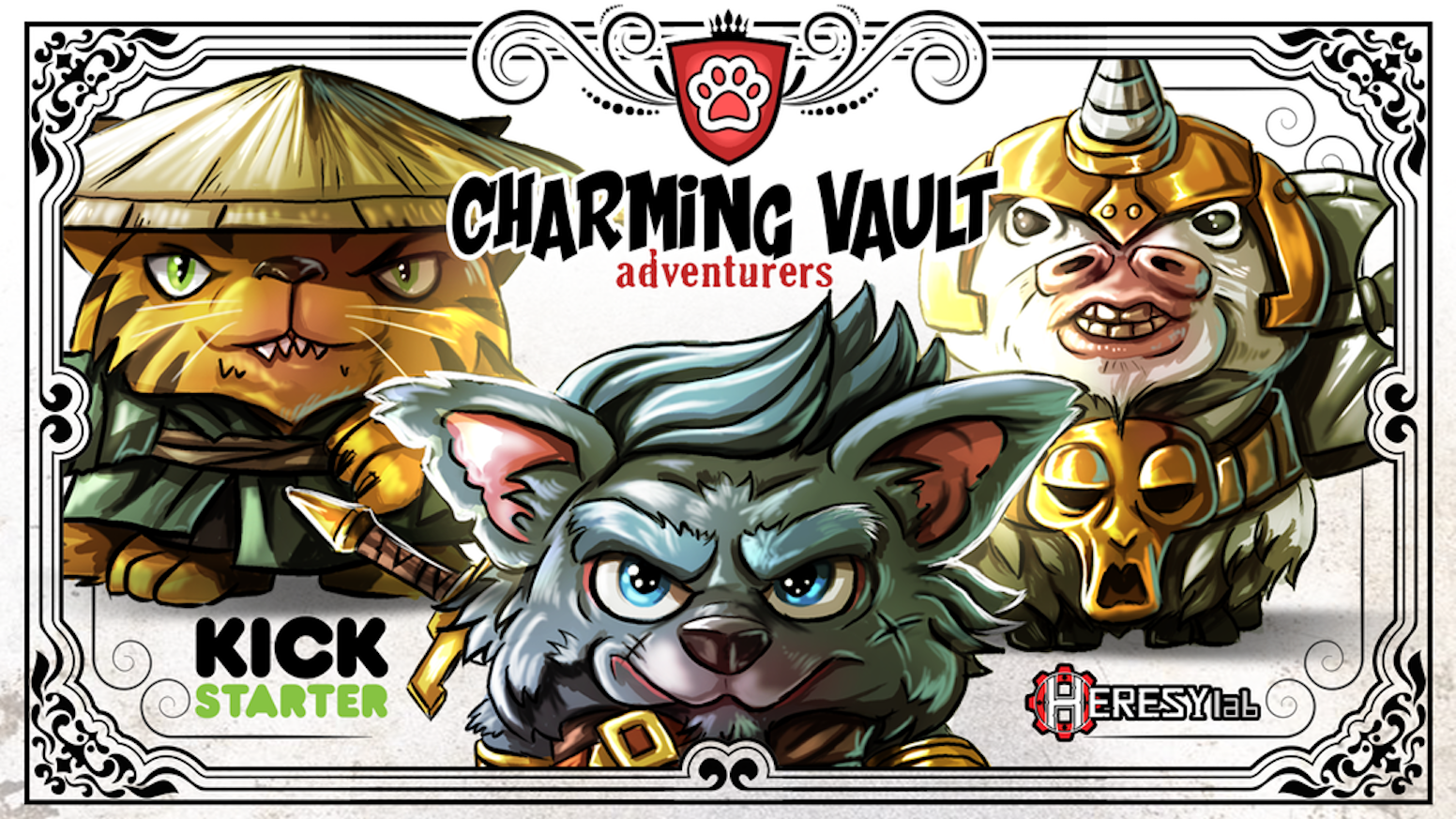 Charming Vault STL printable files for D&D inspired animal adventurers.