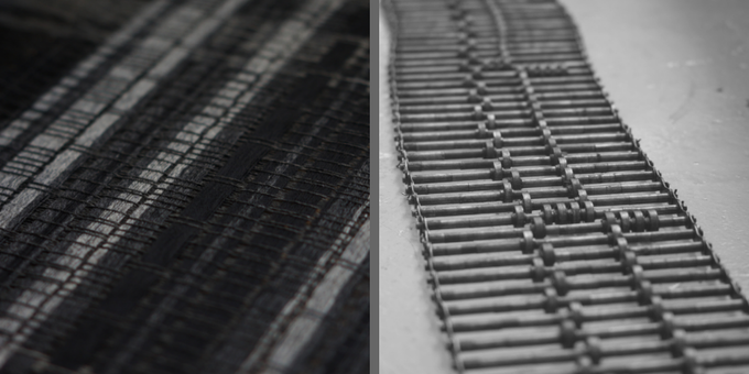 SLATE WEAVE - INSPIRED BY THE LINES AND FORMS OF THE BLACK HOUSE MILL BUILDING