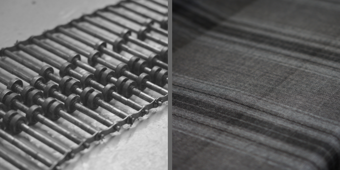 WD1250 WEAVE - WITH CONTRASTING WARP AND WEFT SETTINGS WE LOVE OUR WARP DOMINANT TARTAN STYLE