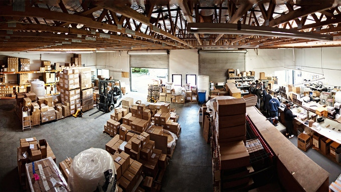 This is a genuine photo of our warehouse in Petaluma, CA