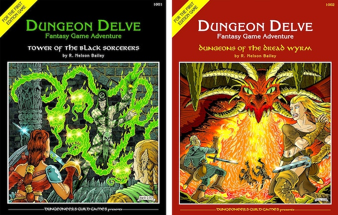 The previous two DUNGEON DELVE adventures are available with some reward options.