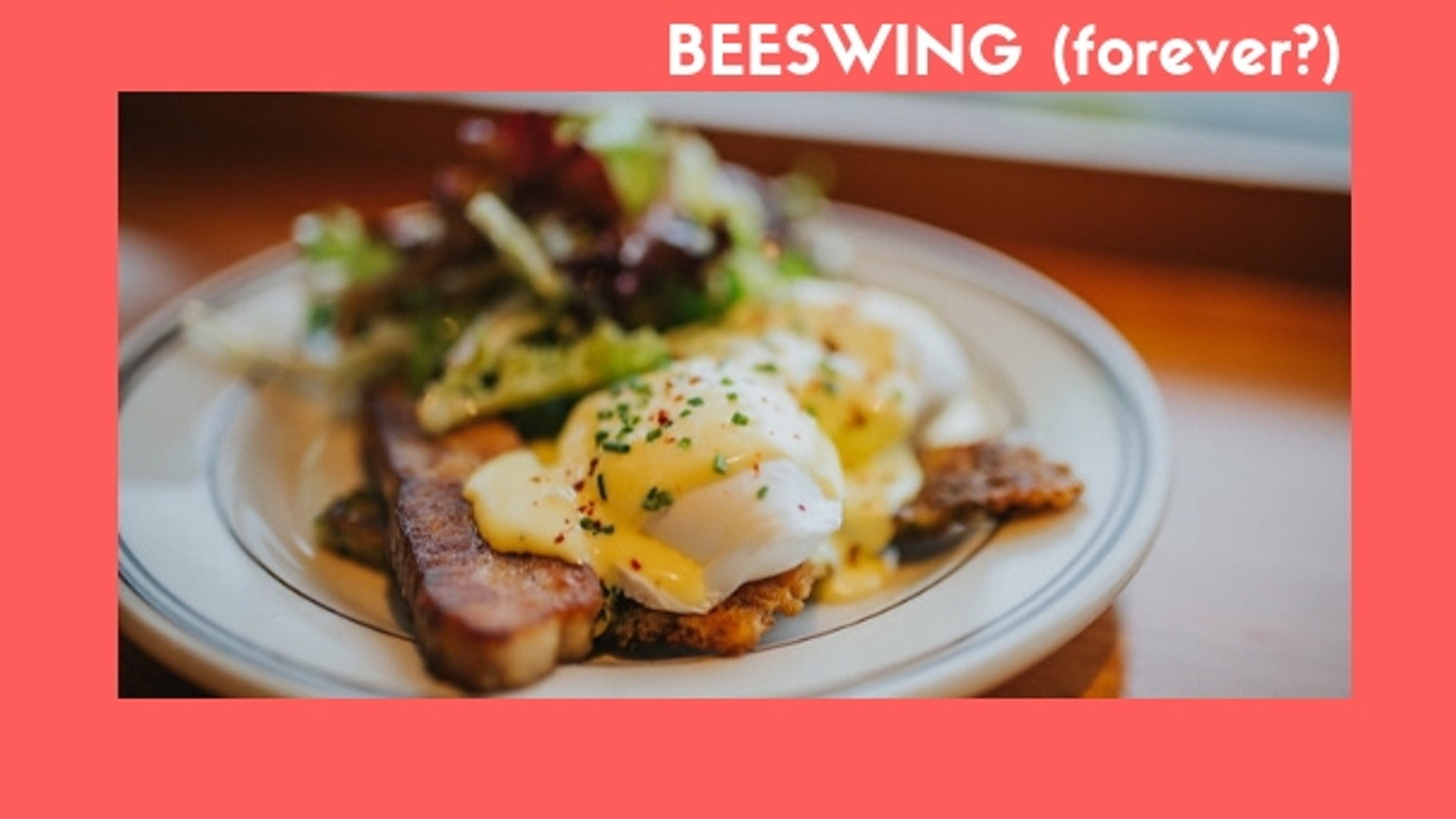 We are reopening Beeswing in a new location. Thank You for supporting us during this transistionand helping us keep our beloved restaurant cooking.