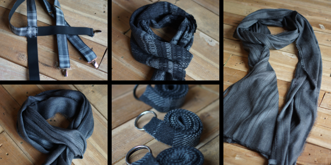 THE REBEL STYLE BUNDLE - A BELT, SOME BRACES, DAY SCARF, NIGHT SCARF AND ONE SERIOULSY BIG SCARF...