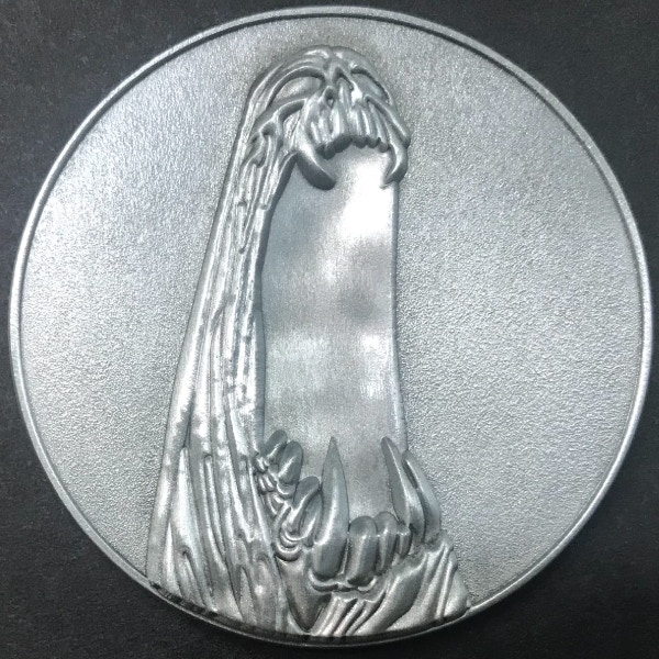 Front of Windwalker coin - plated in antique silver