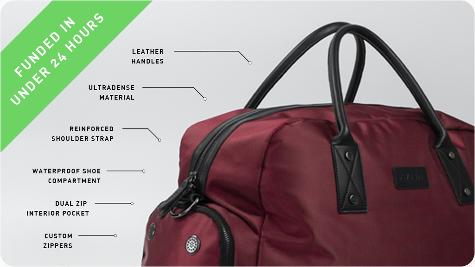 Waterproof, Shoe Pocket, Cabin Bag Friendly, Notebook compartment and RFID Blocking Pocket