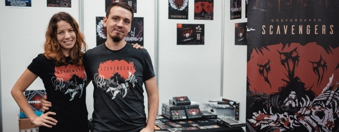 Scavengers at Essen (the biggest European boardgame event) - possible thanks to your help