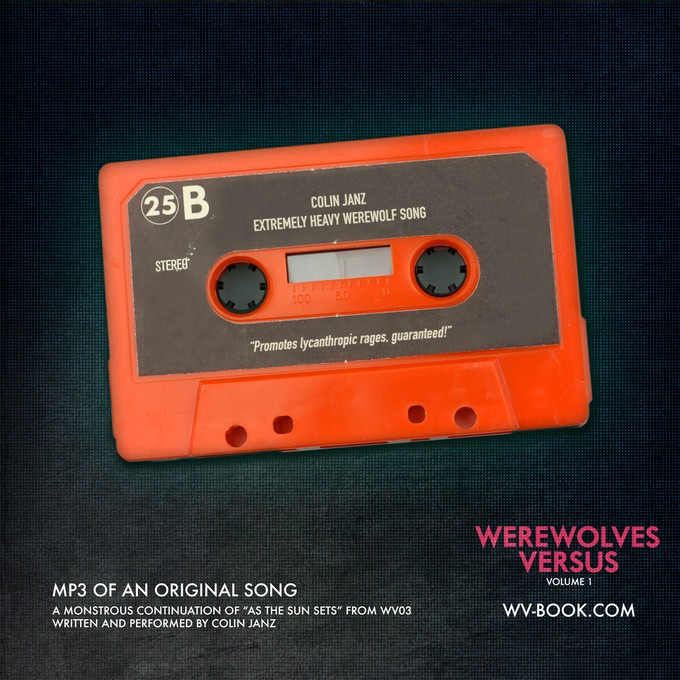 """An MP3 of a new original song by Colin Janz that continues the theme of his WEREWOLVES VERSUS: MUSIC entry """"As the Sun Sets"""", but in a much heavier, nastier way. When we commissioned him, the sonic references included the DOOM 2016 soundtrack."""