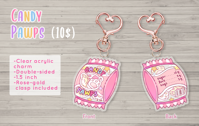 New acrylic charm add-on available!