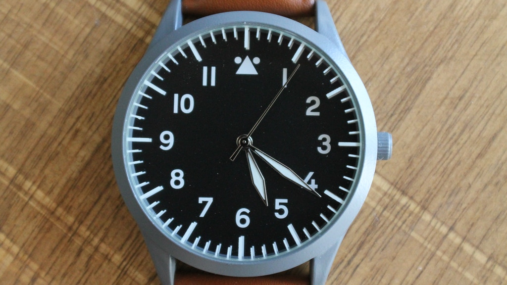 A pilot watch inspired by vintage design. project video thumbnail