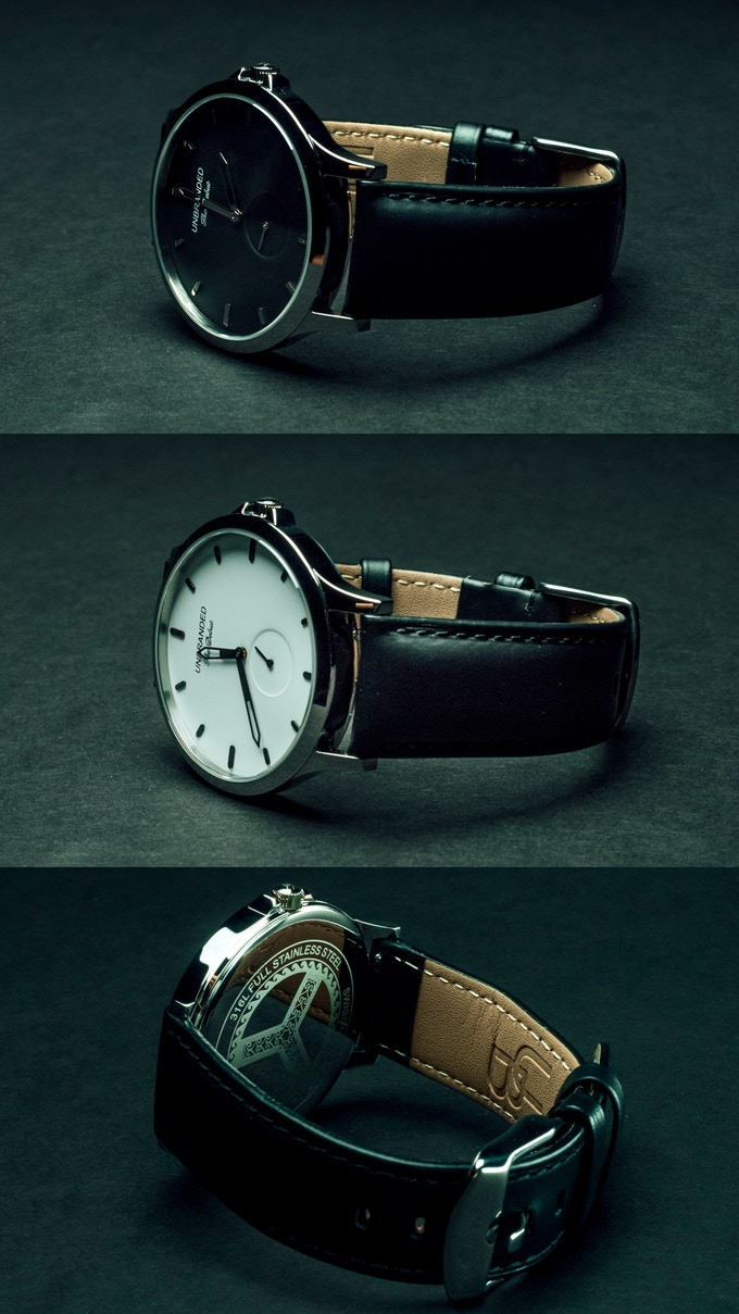 Top to Bottom: The Debut Black, The Debut White, The Debut Watch Back