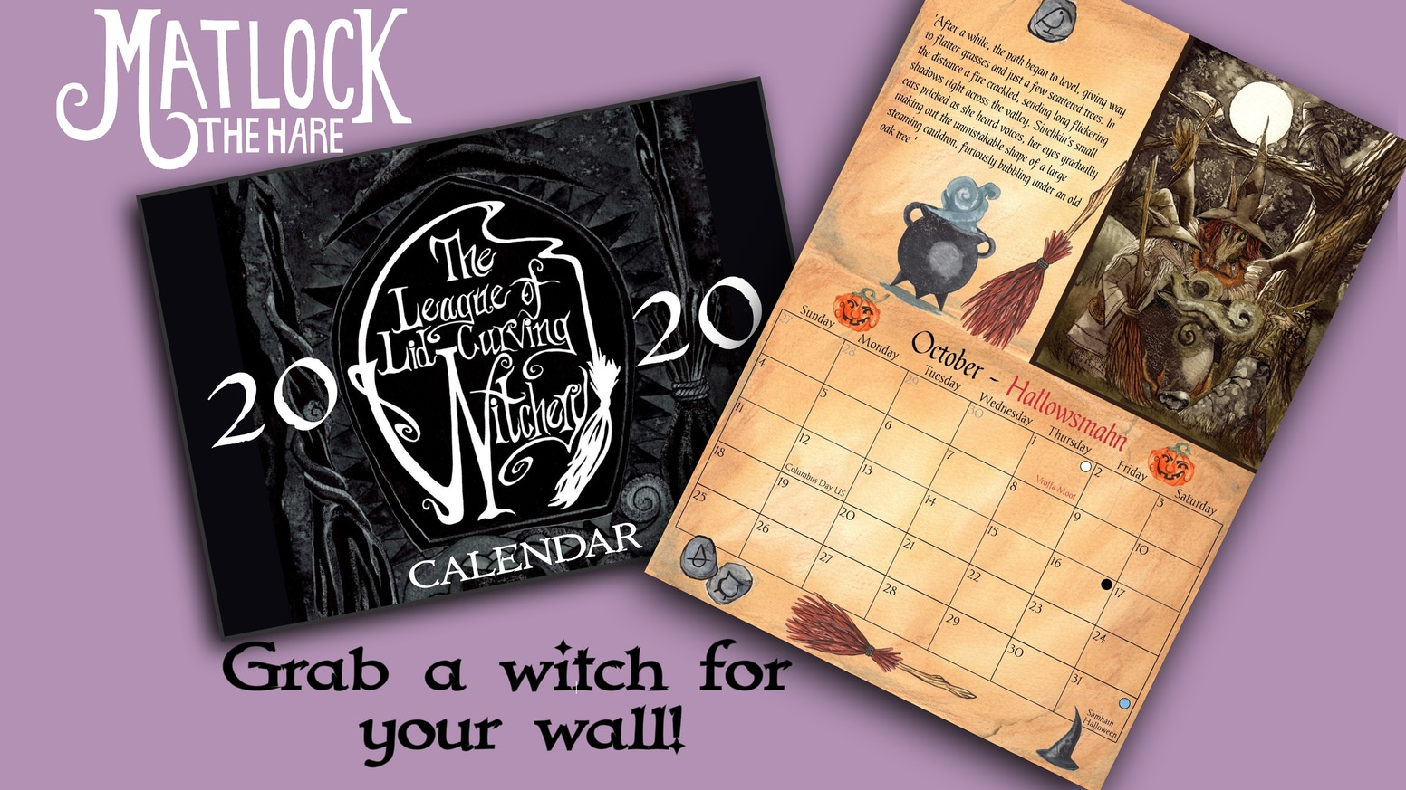 The League of Lid-Curving Witchery' 2020 Calendar by Phil