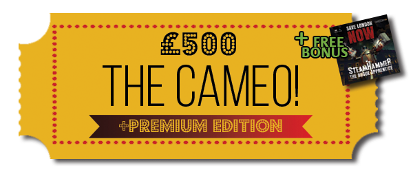 Pledge £500 or more - Your chance to play a small cameo role in a Metaverse Movie.