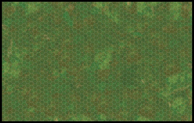 Possible Green War Terrain with 1.5 inch Hexes.