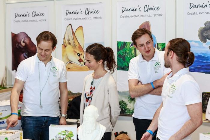 The team behind Darwin's Choice - Marc, Rozenn, Elio and Samuel
