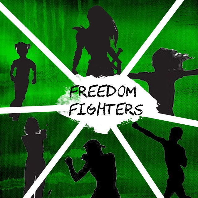 Have your likeness drawn into the Digitopian Freedom Fighter A3 Poster