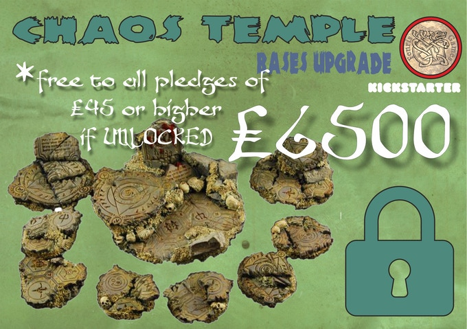 Scenic bases upgrade for all models in your Pledge. FREE for everyone Pledging £45 or over during the campaign.