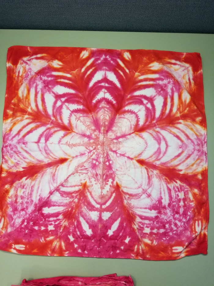 Starflower bandanna made for my co worker.
