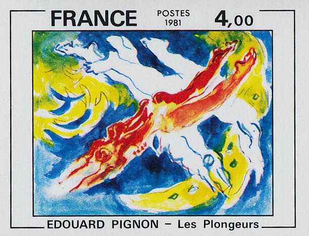 "Edouard Pignon's painting ""The Divers"""