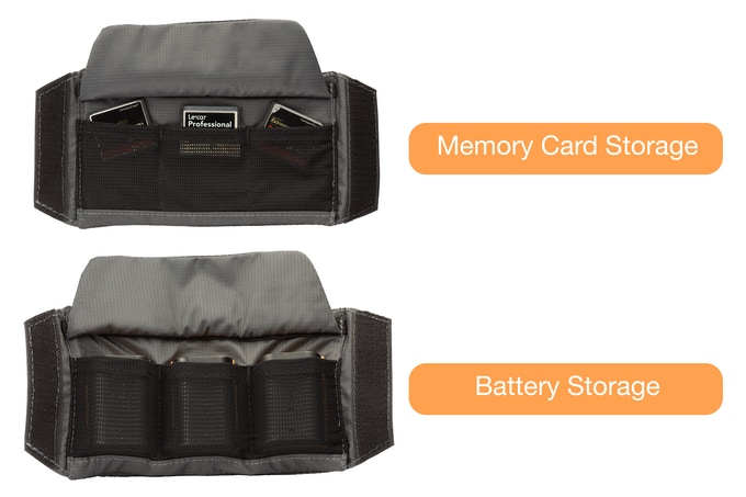 Maximize space with battery & memory card dividers