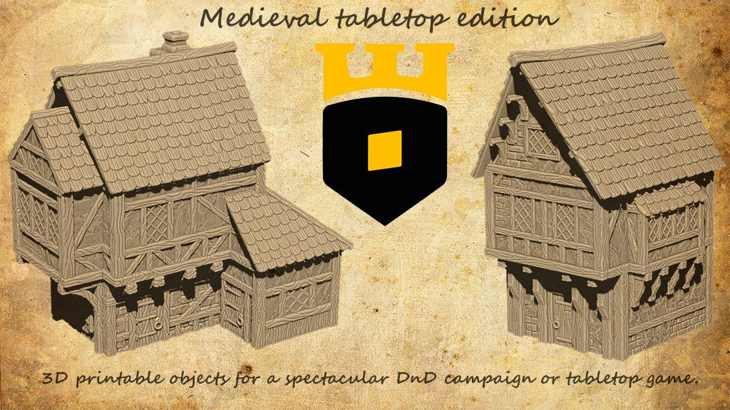 Medieval township 3D Printable - tabletop edition project video thumbnail