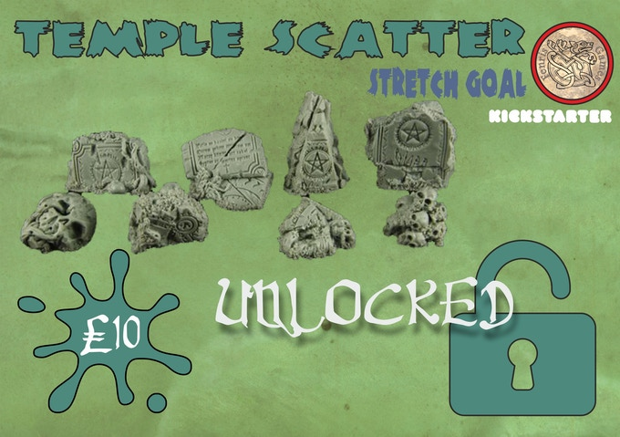 Eight chunky pieces of chaotic resin terrain for basing or dioramas. Add a set for £10