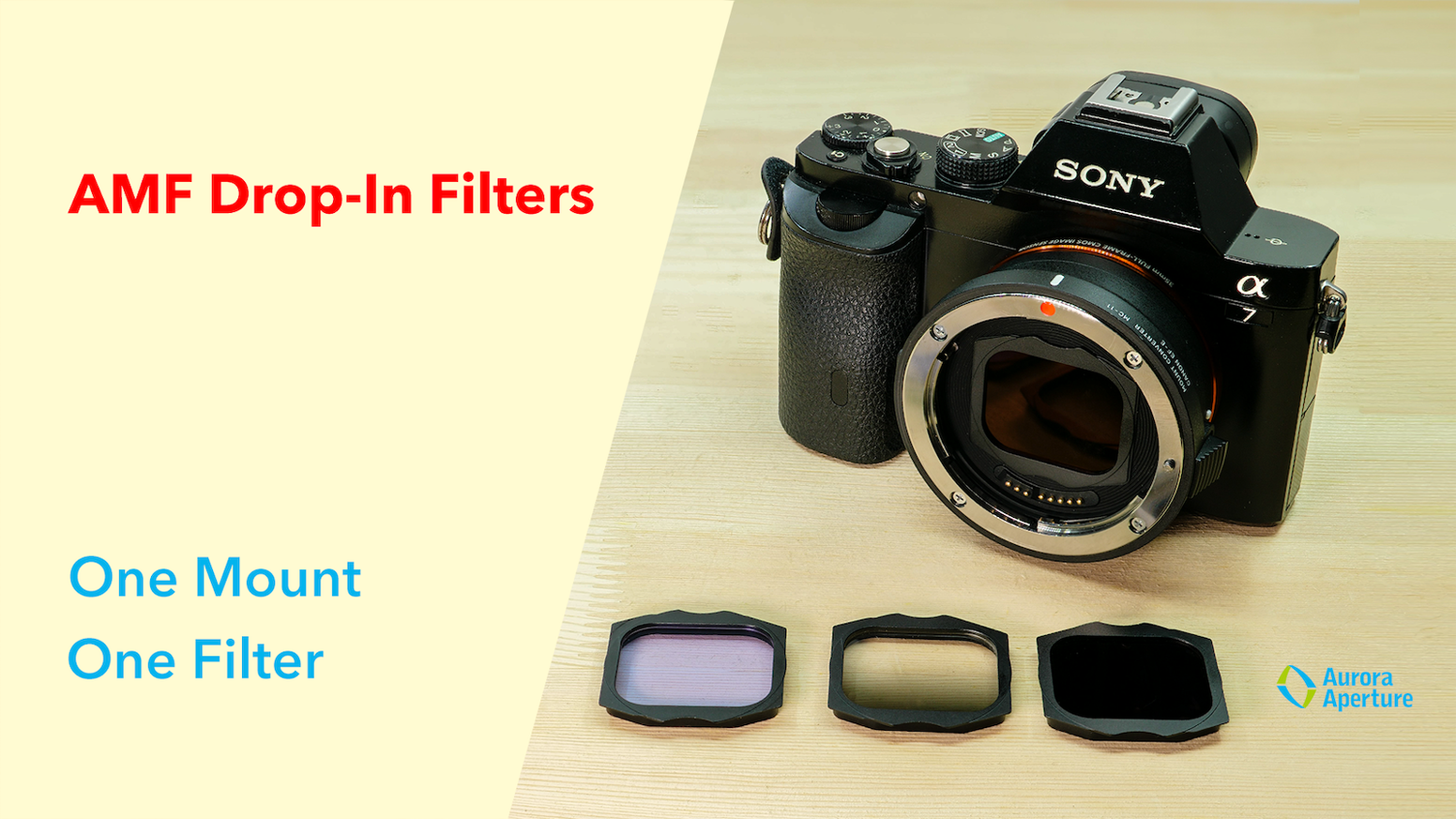 One Set of Filters for All Your Lenses