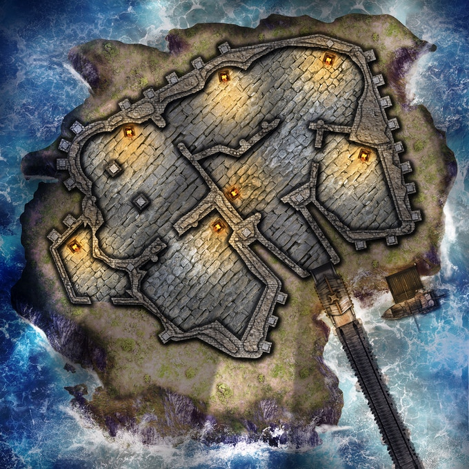 Free 30 X 30 Map of Stormwind Castle
