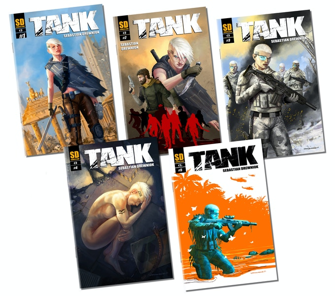 TANK #1-5 - The regular covers / Die regulären Cover