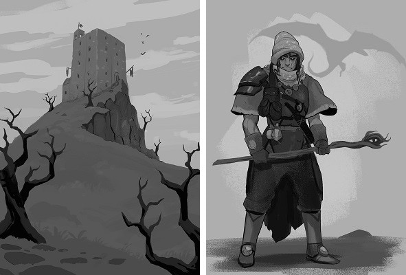 Keep on the Wastelands, Mage Hunters illustrations by Anthony Cournoyer
