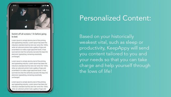 Personalised Content Screen