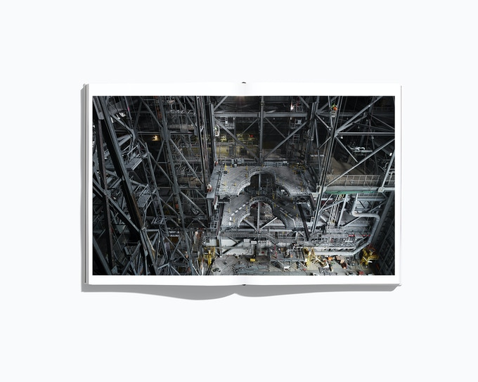 "Spread showing the Vehicle Assembly Building from the forthcoming book ""NASA - Past and present dreams of the future"" by © Benedict Redgrove"